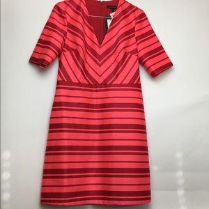 Banana Republic shirt sleeve dress pink & red
